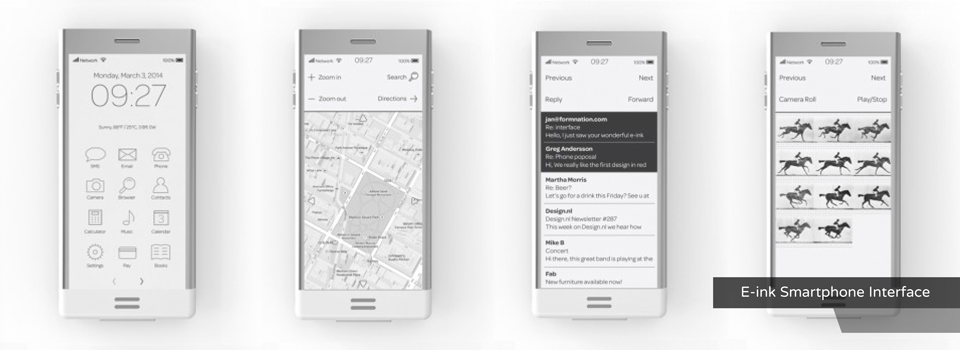 E-ink Smartphone Interface